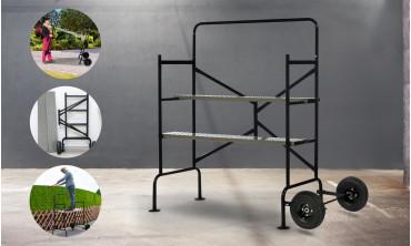 Échafaudage de jardin sur roues