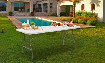 Table pliante d'appoint 180cm