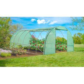 Serre de jardin 4 saisons 3x6m - 180gr - vert