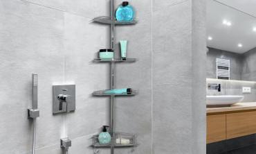 Étagère de douche extensible