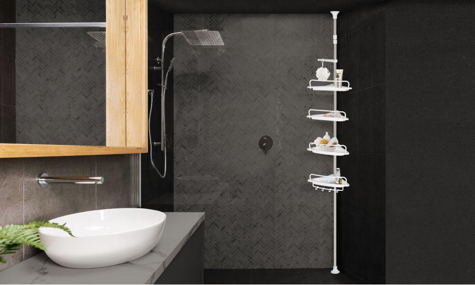 Étagère de douche téléscopique