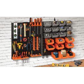 Ensemble de rangement mural pour outils