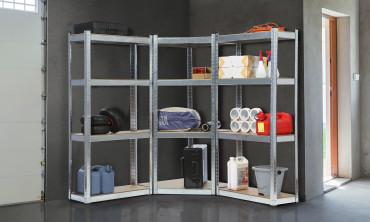 Etagère charge lourde 4 niveaux - kit complet