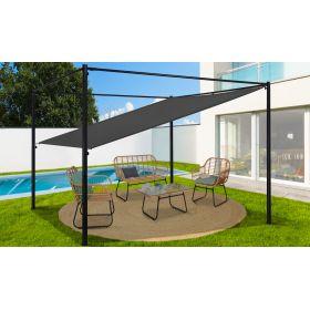 Pergola toit orientable et personnalisable - toile grise