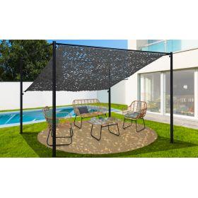 Pergola toit orientable et personnalisable 3 x 4 m ombrière grise