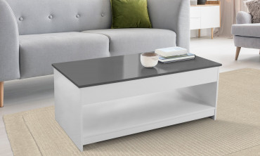 Table basse plateau relevable - Grand modèle
